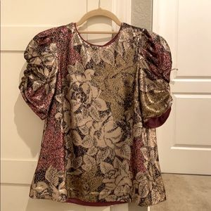 Anthropologie Sequin Blouse/Top. XS. NWT.
